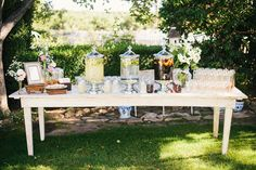 I think I want a refreshment table for before the ceremony and what better way to do it in the South than sweet tea and lemonade