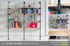 HomeMade Modern DIY Pipe Shelves Postcard