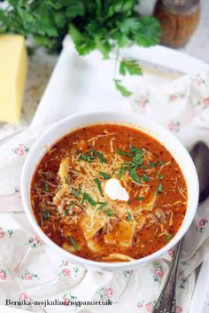 zupa-lasagne Food And Drink, Ethnic Recipes, Diet, Lasagna