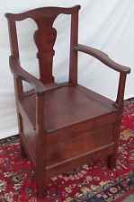 1750-70 CARVED WALNUT TIDEWATER, VIRGINIA  CHIPPENDALE JOINER'S CHAIR-IMPORTANT