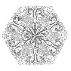 Dream with Mandalas coloring book Design d31