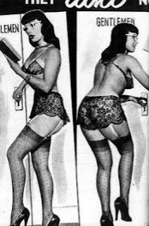 Bettie Page in glasses. :)