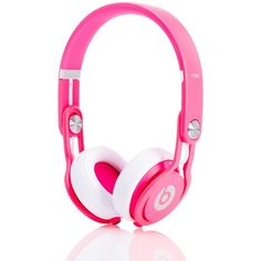 Beats Headphones Neon Pink Mixr Headphones ( 170) ❤ liked on Polyvore  featuring accessories 032f789714e8