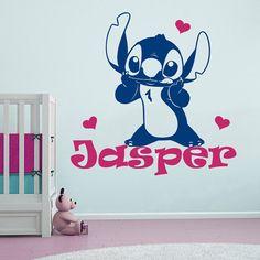 Wall Stitch Decal Baby Lilo And Ohana Custom Personalized Girl Boy Name Nursery