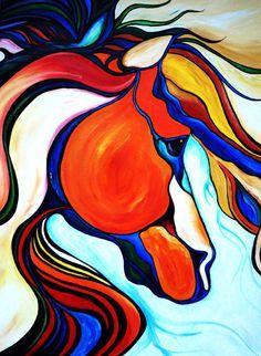 Jupiter  The Stallion  Oil digital download by ShatteredVisAbility