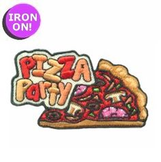 Pizza Party Fun Patch. PatchFun.com has more Girl Scout Fun Patches!