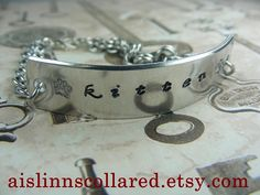 Kitten Handstamped Chainmaille Bracelet by aislinnscollared