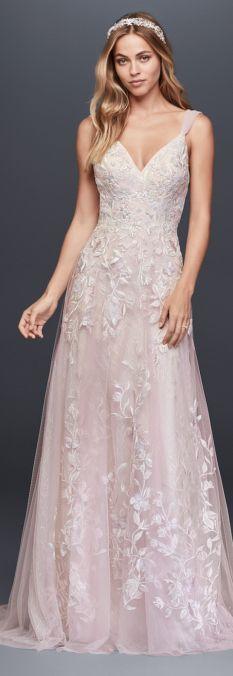 The Romantic Melissa Sweet Wedding Dress Collection From David's Bridal #weddinggowns #weddingdress