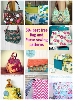 30 + of my favorite bag, tote, wallet and purse patterns to sew. All free sewing patterns for a wide variety of different bag and purse patterns. Enjoy!