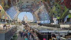 ROTTERDAM - Markthalle. Hier könnte auch ein Jumbojet bequem einparken. Die neue Rotterdamer Markthalle ist 120 Meter ist lang und 70 Meter breit.
