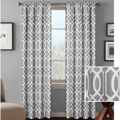 Better Homes and Gardens Ironwork Curtain Panel -- The coral ones are my fav