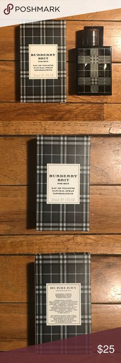 BURBERRY BRIT Cologne • For men, eau de toilette • 100% authentic  • 1 FL. OZ • 99% full, only been sprayed a few times  • Great gift  • Great cologne to impress with  • Comes with original box/packaging  • Amazon is listing it for $58, buy for 1/2 that price!!  • Who doesn't want some BURBERRY in their life     Tags: burberry, Cologne, perfume, gucci, menswear, men, Polo Ralph Lauren, nautica, champion Burberry Other