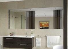 Everton flat edge mirrors are easy to install and ideal for bathrooms, bedrooms and all living spaces.