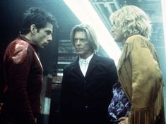 David Bowie, Ben Stiller and Owen Wilson. (in Zoolander)