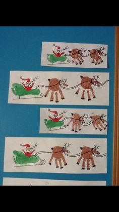 Rudolph Crafts - Regalos y golosinas - Weihnachtsdeko/Christmas/jul - Handabdruck / Fussabdruck Weihnachten, Weihnachtsmann, Rentier – ¡Artesanía navideña de huella - Kids Crafts, Baby Crafts, Preschool Crafts, Infant Crafts, Toddler Crafts, Crafts With Babies, Creative Crafts, Holiday Crafts, Holiday Fun