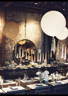 loft wedding idea with geronimo balloons reception decors