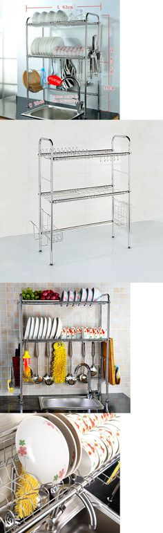 Racks and Holders 46283: Tray Stainless Fixing Kitchen Shelf Double Shelf Dish Drying Rack Drainer Dryer -> BUY IT NOW ONLY: $69.99 on eBay!