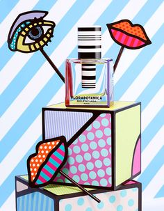 """Pop art store lips (""""Playing With Color"""" Photographed By Lacey, Styled By Beth Fenton For Vogue Japan, March Pop Art, Arte Pop, Still Life Photography, Art Photography, Craig And Karl, Art Et Design, Design Shop, Graphic Design, Keramik Design"""
