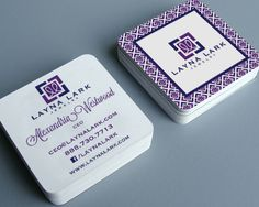 Layna Lark business cards, designed by The Savvy Socialista.