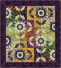 We've used a TON of the Black fabric as accents in a number of quilts, many of… Quilting Projects, Quilting Designs, Star Quilts, Quilt Blocks, Watercolor Quilt, Flying Geese Quilt, Batik Quilts, Foundation Paper Piecing, Quilt Making