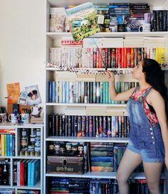 wingardium leviosa by readsleepfangirl Bookstagram ideas I Love Books, New Books, Books To Read, Bookshelf Inspiration, Bookshelf Organization, Beautiful Book Covers, Book Aesthetic, Shelfie, Book Nooks
