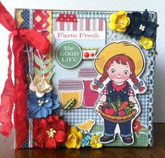 Two Crazy Crafters: May 15 Crafting a Farm Fresh Mini Album