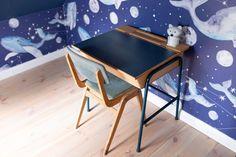 POKÓJ CHŁOPCÓW: METAMORFOZA BIURKA DIY - conchitahome.pl Ocean Themed Nursery, Nursery Themes, Ping Pong Table, Drafting Desk, Diy, Furniture, Home Decor, Decoration Home, Bricolage