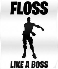 'Floss Like A Boss Dance Emote Celebration Fortnite' Poster by trndsttrz Dance Silhouette, Epic Games Fortnite, Boy Images, Tumblr Stickers, Tees For Women, Like A Boss, Halloween Shirt, Graphic Tees, Celebrities