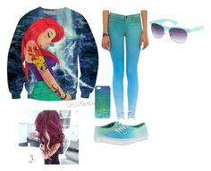 Little Mermaid by jordanfashion14 on Polyvore featuring polyvore, fashion, style, J Brand, Vans, Full Tilt and ASOS