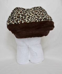 A personal favorite from my Etsy shop https://www.etsy.com/listing/199776680/cheetah-print-minky-hooded-towel