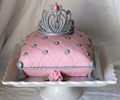 ~Cake Fit for a Princess~   All edible...the crown is a gumpaste/fondant mix. My own design, if anyone wants to use it, let me know and I ...