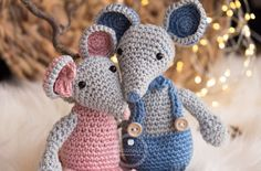 crochet mouse, free amirugumi pattern