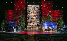 Visually, this is gorgeous. (Probably too megachurch for our little bitty stage, but I love it.)