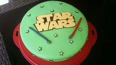 Star wars Star Wars, Birthday Cake, Desserts, Food, Fondant Cakes, Birthday Cakes, Meal, Deserts, Essen