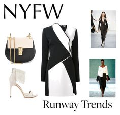 """Runway Trends"" by samra-dzabija ❤ liked on Polyvore featuring Hellessy, Thierry Mugler, BCBGMAXAZRIA, Chloé and NYFW"