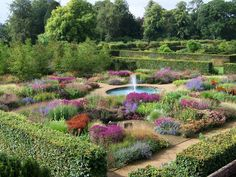The walled garden on the Scampston Hall, in Yorkshire, England, is a tour de force of modern garden architecture and planting by Piet Oudolf. Landscape Design, Garden Design, British Garden, Garden Architecture, Formal Gardens, Private Garden, Dream Garden, Garden Planning, Garden Inspiration