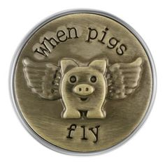 Antique Brass When Pigs Fly Magnolia and Vine Snap Flying Pig, Pigs, Antique Brass, Magnolia, Bracelet, Antiques, Collection, Jewelry, Antiquities