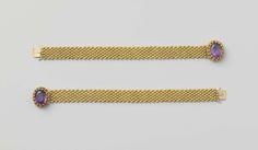 Armband van goud en amethist, Jean Baptiste Bonnard, c. 1824 - c. 1829