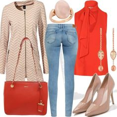 Orange #fashion #mode #look #outfit #style #stylaholic #sexy #dress