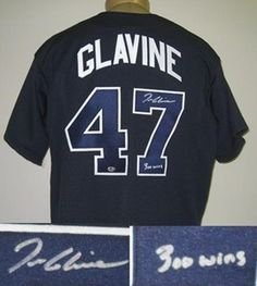 Tom Glavine Signed Atlanta Braves Jersey - 300 wins with COA by Autograph-Sports | #SportsMemorabilia #TomGlavine #AtlantaBraves