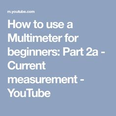 The table below lists the america wire gauge awg using the metric how to use a multimeter for beginners part 2a current measurement youtube greentooth Choice Image