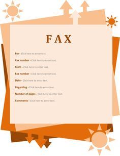 Fax Cover Sheet Template