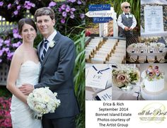 ERICA & RICH We helped them plan their Bonnet Island wedding while they lived in Hawaii where Rich worked and Erica was finishing up her Masters degree in math. Photos courtesy of The Artist Group Island Weddings, Celebrity Weddings, Masters, Real Weddings, Hawaii, Groom, Table Decorations, Bride, Math