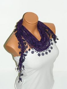 Personalized Design purple Scarf Turkish Fabric by WomanStyleStore, $14.00