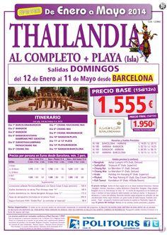 THAILANDIA  al completo + Playa  salidas del 12/1 al 11/05/14  desde Barcelona (15d/12n) p.f. 1.950€ - http://zocotours.com/thailandia-al-completo-playa-salidas-del-121-al-110514-desde-barcelona-15d12n-p-f-1-950e-3/