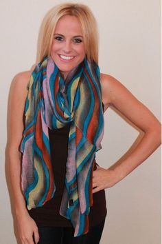 Watercolor Scarf $18.00  www.herringstonesboutique.com