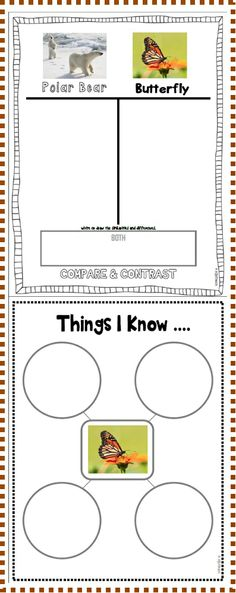 Compare & Contrast Organizers & Writing Prompts
