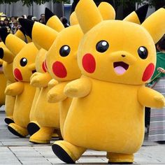 Adult Advertising Dress Fancy Pikachu Pokemon Go Halloween Party Costume Cosplay #Unbranded #Suit
