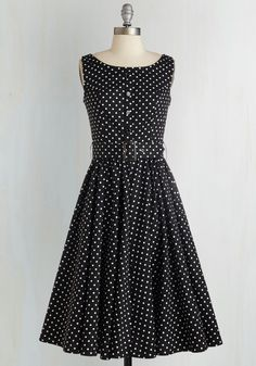 Night as Well Dress. You can always a reason to spend an evening in this midnight-black dress! #black #modcloth