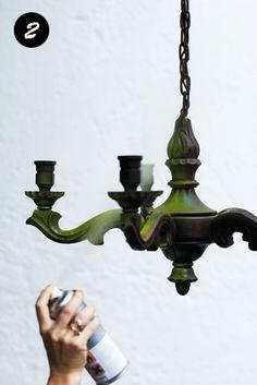 Cambio de estilo a una antigua lámpara | Estilo Escandinavo